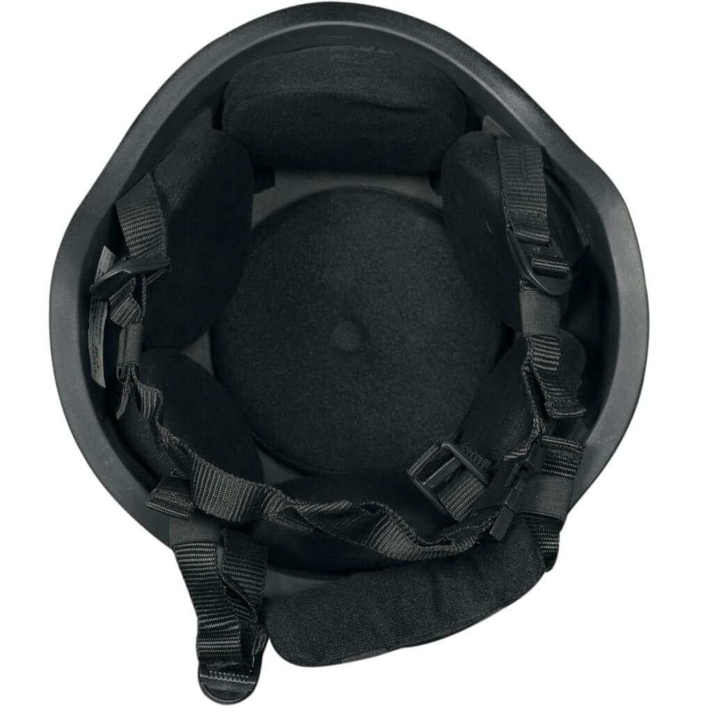 ultra lightweight ballistic helmet inside view