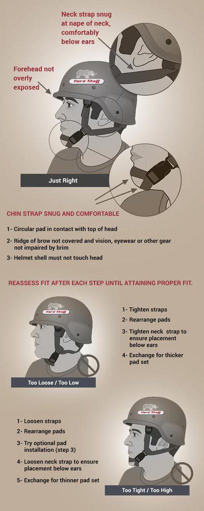 bulletproof helmet size cs fitting guide by hardshell fze