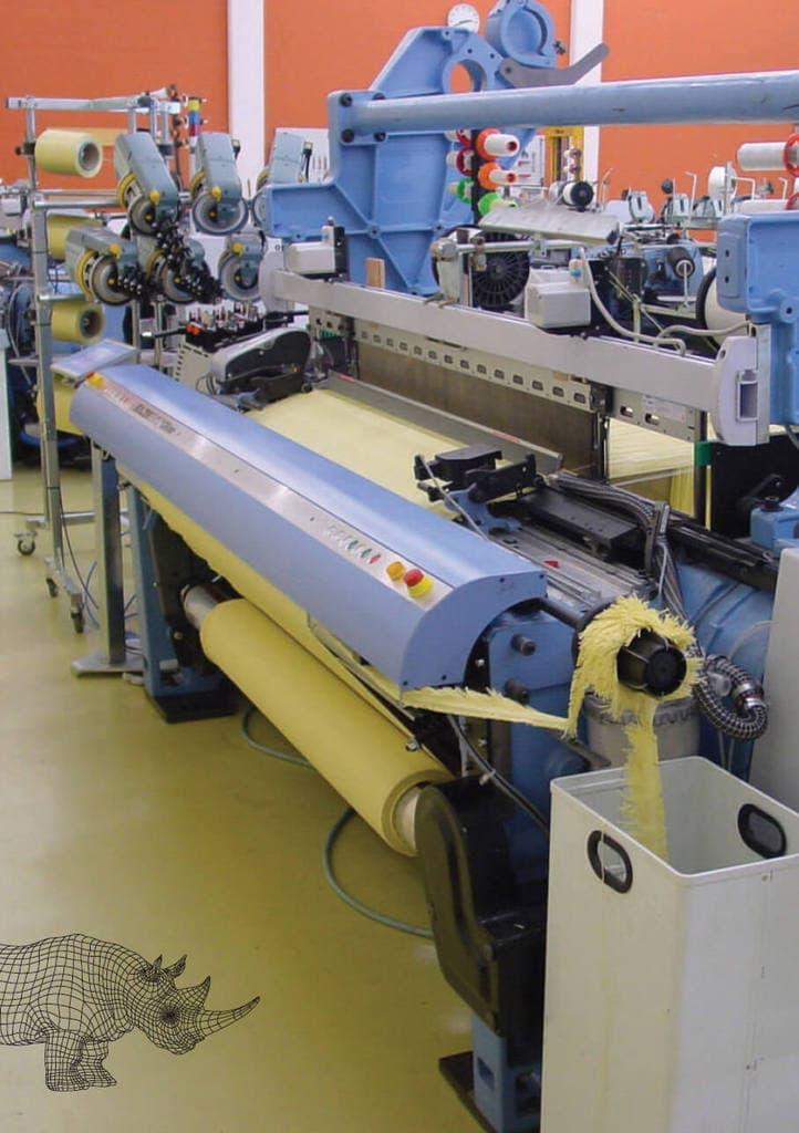 kevlar weaving machine at hardshell fze
