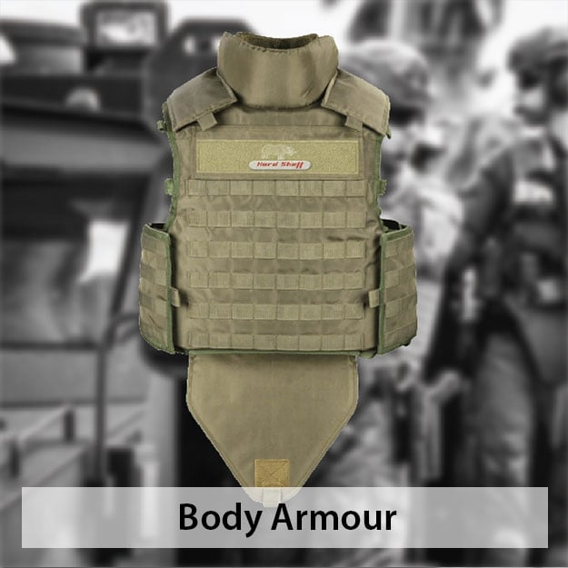 Body armor and bulletproof vest by hardshell fze