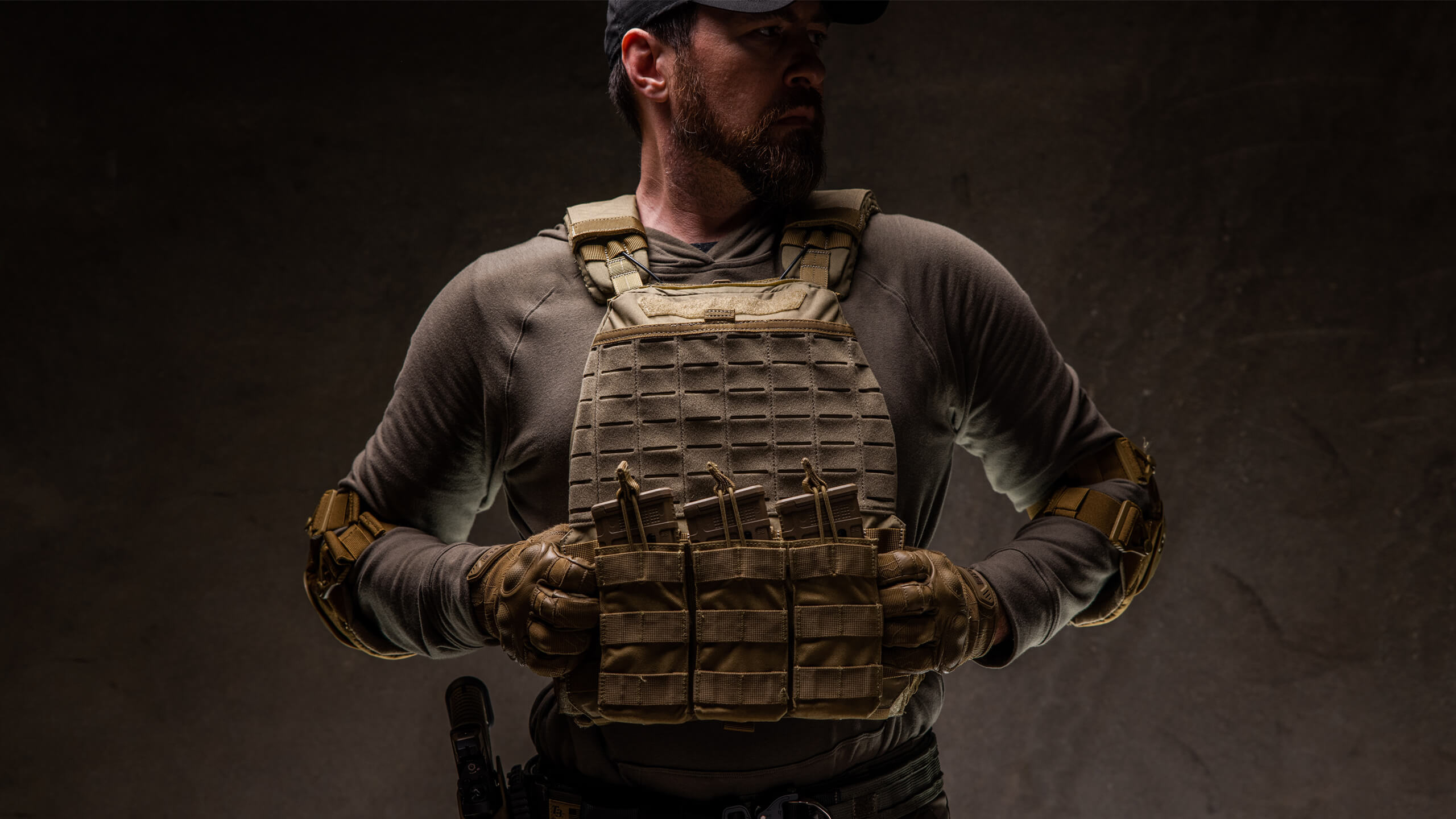 model showing how a plate carrier should fit