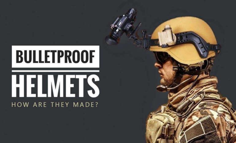 soldier wearing a fully equipped bulletproof helmet of tan color